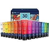 Farba Akrylowa 30 Tubach 36ml Nietoksyczny Akrylowy Zestaw Kolorów Bogaty Pigment Zmywalny Zestaw Farb Akrylowych dla Artystó
