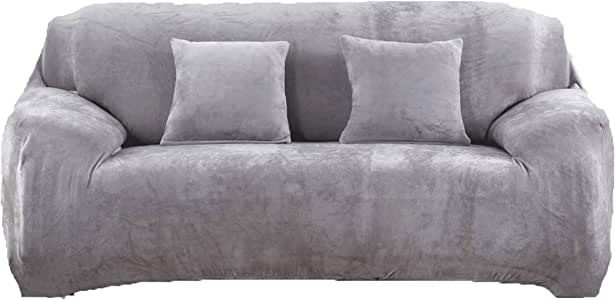 Sofa Cover Thicken Elastic Couch Slipcover Antiskid Settee Protector Pure Colour
