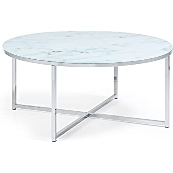 a7ccaf2f431b55 Kave Home Table Basse Divid 80cm, Verre Effet marbre  Amazon.fr ...