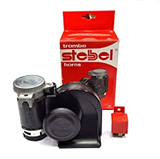 Stebel Designed in ITALY Nautilus Twin Air Horn (Relay Included) - Black