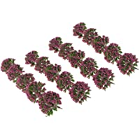 NF&E Pack of 20pcs Painted Model Trees Building Train Railway Layout Scenery DIY 1:75 SA80-D5