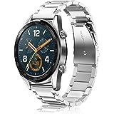 Fintie Correa Compatible con Huawei Watch GT 2/Huawei Watch GT 46mm Sport/Classic/Active/Elite - Pulsera de Repuesto de Acero