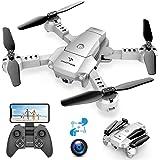 SNAPTAIN A10 Mini Drone con Telecamera HD 720P Pieghevole FPV Controllo Vocale, Controllo Gesti, Volo Traiettoria, Volo…