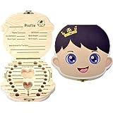 Boîte à Dents de Lait pour Bébé Dents,Boîte à dents pour enfants, boîte de rangement en bois, Boîte à Souvenirs,Cadeau Naissa