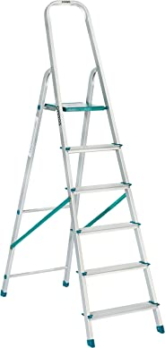 Amazon Brand – Solimo 6-Step Foldable Aluminum Ladder, rust proof and certified by European Standard EN 131