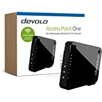 "devolo Access Point One Multimedia Allrounder ""WLAN Monster"" (WLAN AC bis 1733 Mbit/s, 1x Highspeed Gigabit-Port, 4X Ethernet Ports), schwarz"