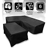 Bosmere Protector 6000 Modular L Shape Dining Set Cover, Right Side Long, Large - Black, M668