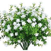 Boic 10 Pcs Artificielles Plantes Vert Feuillage. sans Rempotage Fleurs Artificiel Amovibles, Composition Florale…