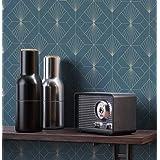 NEWROOM behang grafisch groen patroon behang van de 50er Art Deco vliesbehang luxe modern glamour incl. behanggift Art Deco P