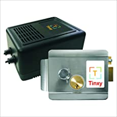 Tinxy WiFi Door Lock with Power Supply. Works with Any Smartphone.
