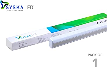 Syska 22 Watts 3 in 1 T5 LED Tube Light - Changes in 3 Colours on Switching On & Off