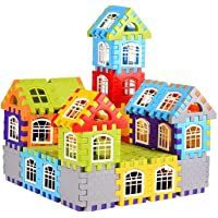 Sky Tech® Building Construction Blocks - Big Size House Building Blocks with Windows & Smooth Rounded Edges , Block…