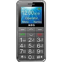 Mobiltelefon | AEG Voxtel M250 Senioren-Handy mit großen Tasten und ohne Vertrag | Mit Notruf-Knopf und Taschenlampe