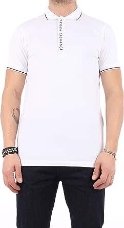 ARMANI EXCHANGE Hidden Buttons, Stretch Cotton Polo Uomo