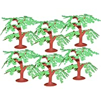 Asian Hobby Crafts Artificial Mini Tree for Project Making - Natural Tree (6 Pieces)