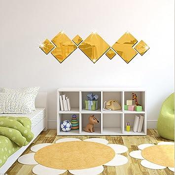 Ufengke 3d fdorme de diamant effet de miroir stickers muraux design à la mode art de décalque décoration de la maison dor amazon fr cuisine maison