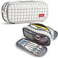 Trousse à Crayons Grande Capacité Pochette Sac Porte-stylo 3 Compartiments Fournitures Scolaires Papeterie Organisateur…
