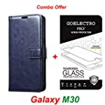Goelectro Samsung Galaxy M30 / Galaxy M30 Leather Dairy Flip Case Stand with Magnetic Closure & Card Holder Cover...