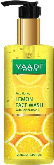Vaadi Herbals Pure Honey Lemon Face Wash With Jojoba Beads, 250 ml