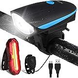 OMERIL Eclairage Vélo Etanche, Lumière Vélo Arrière 5 Modes et Lampe LED Avant 3 Modes Puissante USB Rechargeable avec…