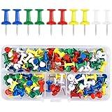 Fodlon 100 Pièces Multicolores Punaises, Punaises Décoratives Multicolores, Punaises à tête en Plastique pour Tableau d'affic