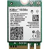 Killer Module Wi-Fi 6 AX1650 Dual Band, 2x2 Wi-Fi 6/11AX, Bluetooth 5.0, M.2/NGFF (Gig+)