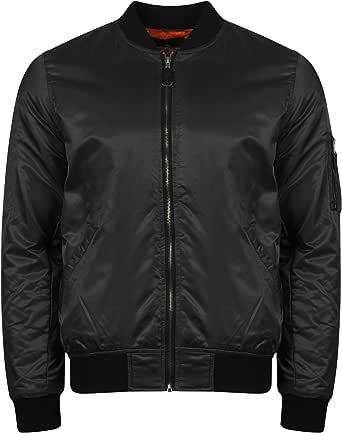 Tokyo Laundry Mens Cavour Designer Bomber Jacket Retro Biker MA1 Harrington Coat