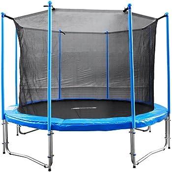 Unbekannt FA Sports Gartentrampolin mit Sicherheitsnetz Flyjump Monster, blau, 305 cm, 1220