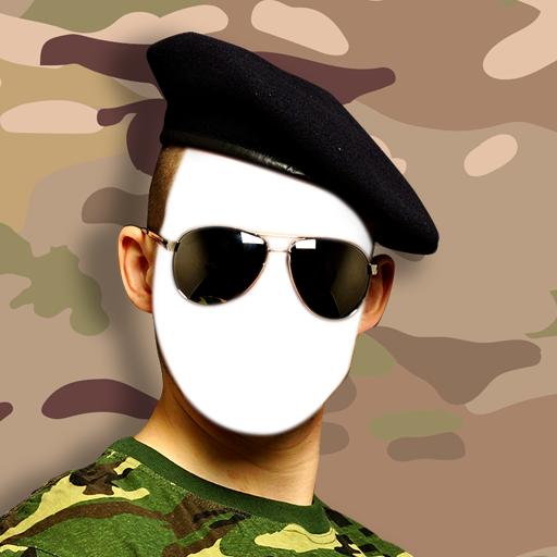 Kostüm Lustige Soldaten - Military-Foto-Montage