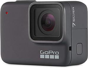 GoPro  HERO7  Silver  –  wasserdichte  digitale  Actionkamera  mit  Touchscreen,  4K-HD-Videos,  10-MP-Fotos