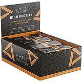 Marca Amazon - Amfit Nutrition Barrita de proteína baja en azúcar (19,6gr proteina - 1,6gr azúcar) - chocolate y caramelo - P
