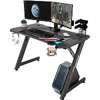 IntimaTe WM Heart Bureau Gaming, Z Bureau Gamer d'Ordinateur, Ergonomique Gaming PC Table Fibre de Carbone,Table Gamer…