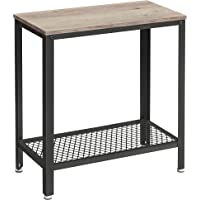 VASAGLE Table d'appoint, Table de Chevet, Bout de canapé, avec étagère grillagée, pour Salon, Chambre, Style Industriel…