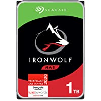 Seagate IronWolf, NAS interne Festplatte 1 TB HDD, 3,5 Zoll, 5900 U/Min, CMR, 64 MB Cache, SATA 6 GB/s, silber, FFP…
