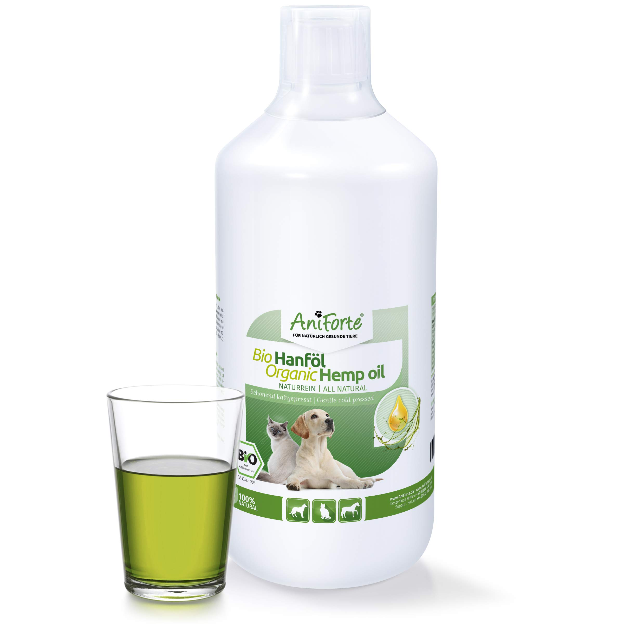AniForte Organic Hemp Oil for Dogs & Cats 1L – Joint Supplement for Pets, Supports Immunity, Coat, Skin and Joint Pain…