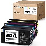 Chip più recente- SWISS TONER 953XL Sostituzione per HP 953 XL Stampante Cartridges per HP OfficeJet Pro 8710 8715 8720 8725