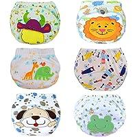 Haimoburg Lot de 6 Culottes d'apprentissage imperméables pour bébé