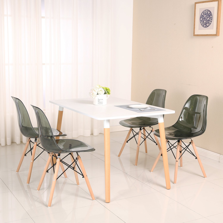 Lot de 4 chaises design tendance r tro bois chaise de for Chaise de salle a manger tendance