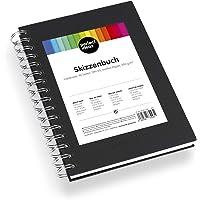 perfect ideaz carnet de Croquis de 96 Pages (48 Feuilles) DIN-A5, carnet de Dessin Professionnel, Livre à Spirales avec…