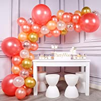 PartyWoo Ballon Rose Gold, 59 pcs Ballons Rose Gold, Ballon Peche, Ballon Blanc, Ballon Or, Ballon Transparents, Ballon…