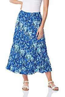 Roman Originals Women Contrast Spot Wrap Skirt
