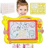 Magnetische Zeichenbrett - Große (43 x 30 x 5 cm) Kinder Zaubertafel Doodle Board Pad Bunt Zeichenbrett mit 3…