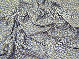 Floral Print Viskose Kleid Stoff blau &