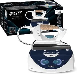 Imetec ZeroCalc PS1 2000, Ferro da Stiro Compatto, fino a 3.8 BAR di Pressione alla Pompa, Tecnologia Anticalcare e a Risparmio Energetico, Ricarica Continua, Vapore Pronto in Un Minuto, 2100 W