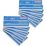 Herlitz 0892703 Bloc de 100 billets numérotés - Lot de 10 - couleur aléatoire - 105 x 50 mm