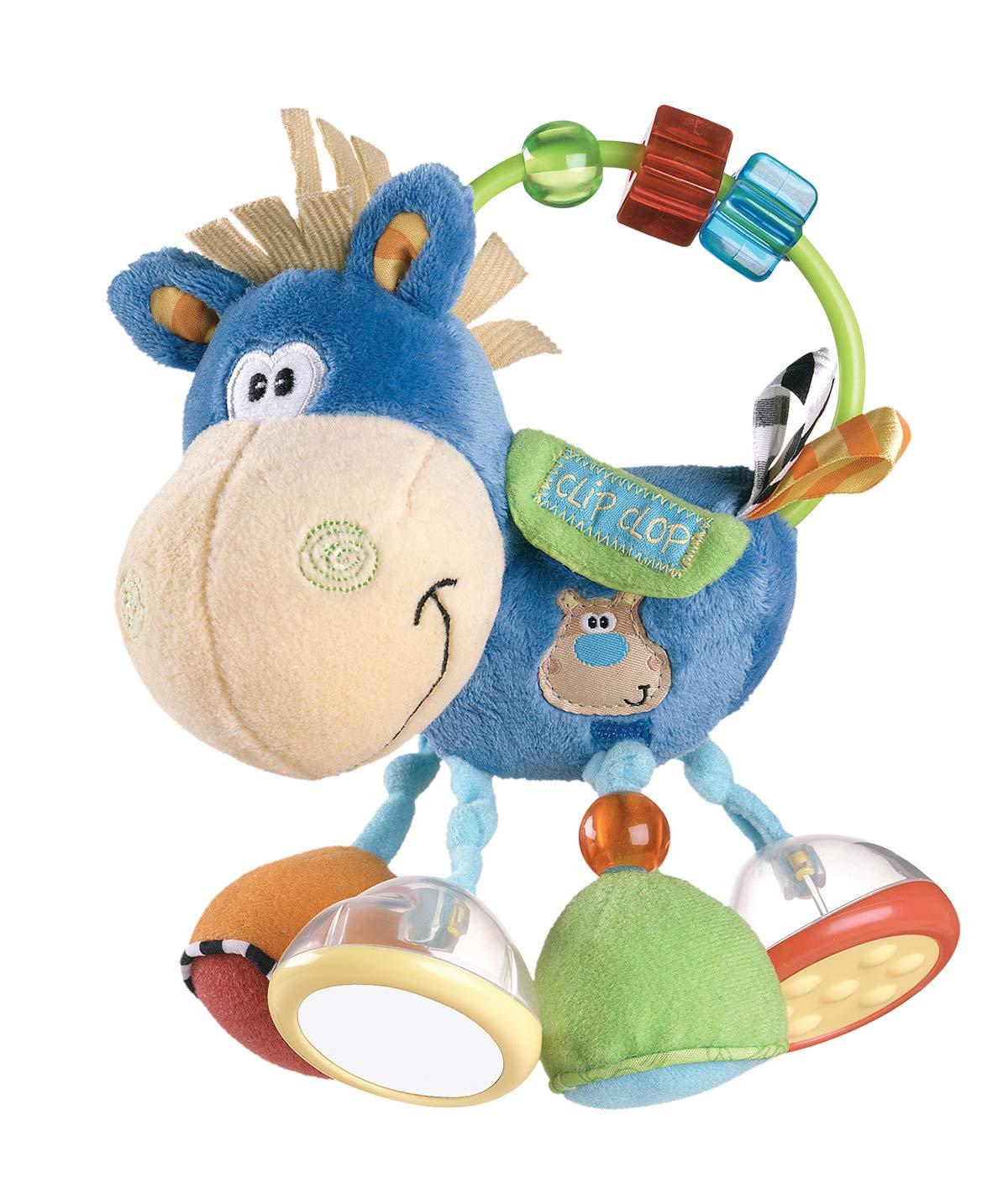 Playgro 0101145 – Mordedor, forma de vaca Clip Clop
