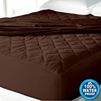 Cloth Fusion Patron 2nd Gen Waterproof Cotton Single Bed Mattress Protector -72x36 Inches- Dark Brown