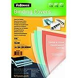 Fellowes - 5375901 - Pack de 100 Couvertures PVC A4-180 Microns - Transparent