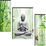 SND Lord Buddha Engineered Wood Digital Reprint Home Decorative Gift items Painting (18 x 24 Inch,Multicolour)
