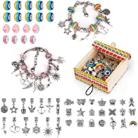 Little Guy Bricolage coloré Cristal Perles de Verre Bracelet Filles Cadeaux boîte Ensemble chaîne en os de Serpent
